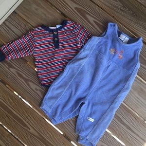 Boy's 6-9 Mos Set of 2 One Pieces
